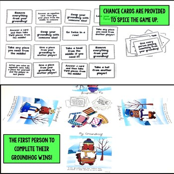 Groundhog Day Activities - Multiplication and Division Word Problems Game