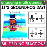Groundhog Day Activities - Groundhog Day Math - Multiplying Fractions Game