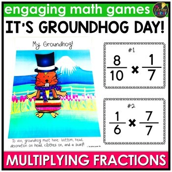 Groundhog Day Multiplying Fractions Game