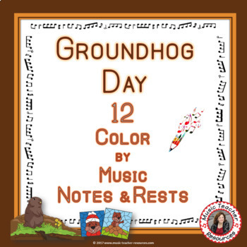 Groundhog Day Music Activities: 12 Groundhog Day Music Coloring Pages