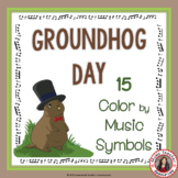 Groundhog Day Music Coloring Pages: 15 Color by Music Symb