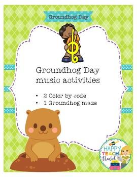 Groundhog Day Music activities