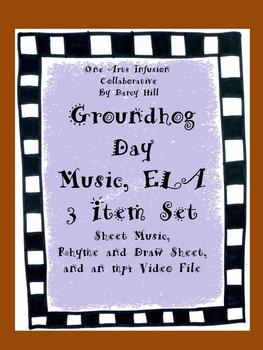 Groundhog Day Music, ELA 3 Item Set