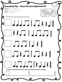 Groundhog Day Musical math and time signatures