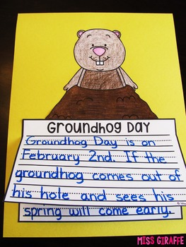 Groundhog Day Writing Craft Activity NO PREP