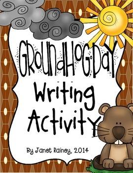 Groundhog Day Newspaper Writing Activity