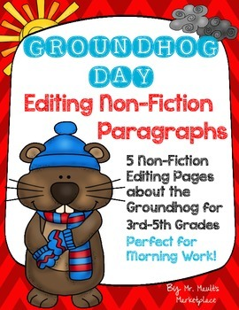 Groundhog Day Non-Fiction Editing/Proofreading Practice Pa