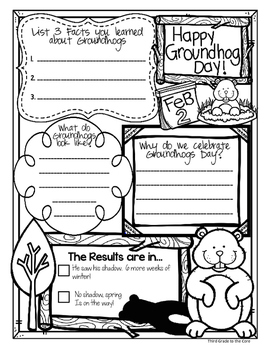 Groundhog Day Nonfiction text, writing, and Other Activities