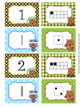 Groundhog Day Number Match Activity