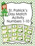 St. Patricks Day Number Match Activity