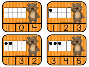 Groundhog Day Number Recognition FREEBIE!