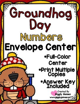 Groundhog Day Numbers Envelope Center