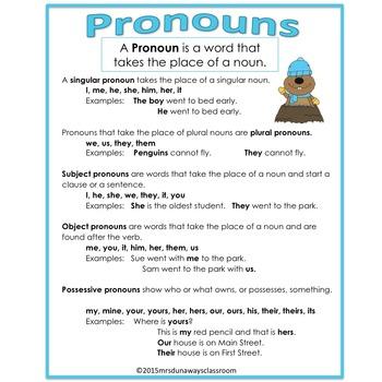 Groundhog Day PRONOUNS:  a file folder game