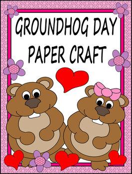 Groundhog Day Paper Craft