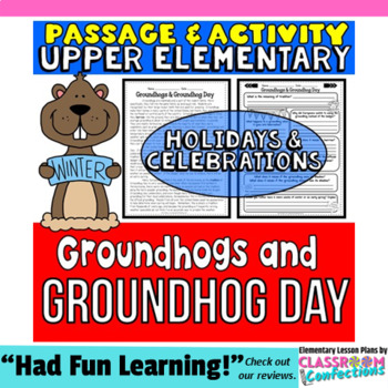 Groundhog Day: Passage and Questions: Reading Comprehension Activity