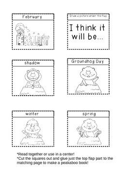 Groundhog Day Peekaboo Book!