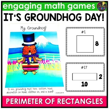 Groundhog Day Activities - Perimeter of Rectangles Game