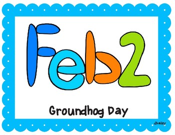 Groundhog Day Picture Playdough Mats