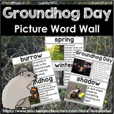 Groundhog Day Picture Word Wall Featuring Real World Pictures