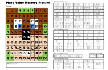 Groundhog Day Place Value Math Mystery Picture - 11x17