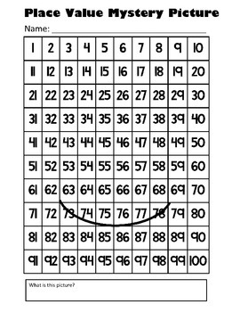 Groundhog Day Place Value Math Mystery Picture - 8.5x11