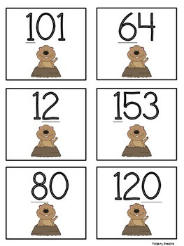 Groundhog Day Place Value Sort