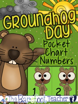 Groundhog Day Pocket Chart Numbers