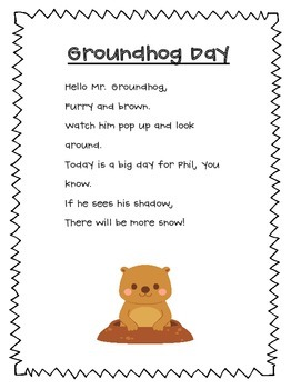 Groundhog Day Poem