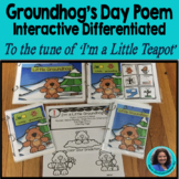 Groundhog Day Poem Song I'm a little Groundhog: 4 levels o