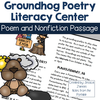 Groundhog Day Paired Passages  Literacy Center