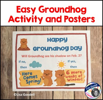 Easy Groundhog Day Activity and Posters