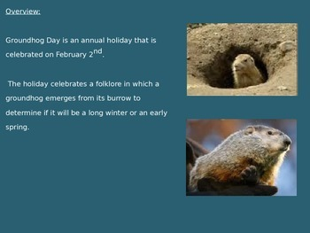 Groundhog Day - Power Point - History Facts Pictures