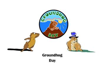 Groundhog Day Powerpoint with Token Test for Autism