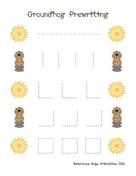 Groundhog Day PreK Mini Printable Pack