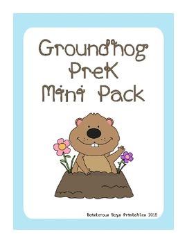 Groundhog day prek mini printable pack by boisterous boys tpt groundhog day prek mini printable pack m4hsunfo Choice Image