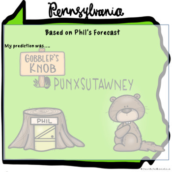 Groundhog Day Predictions Class Book in Google Slides™