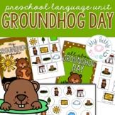 Groundhog Day Preschool Language Unit (+BOOM Cards)