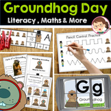Groundhog Day Preschool and PreK Literacy and Maths Activities