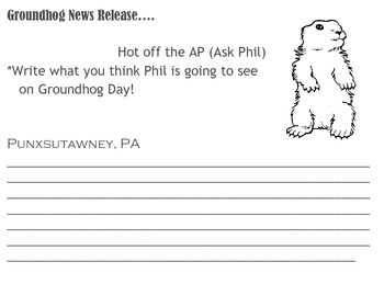 Groundhog Day Press Release