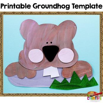Groundhog Day Printable Craftivity Template