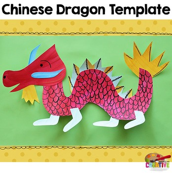 chinese new year dragon printable craftivity template