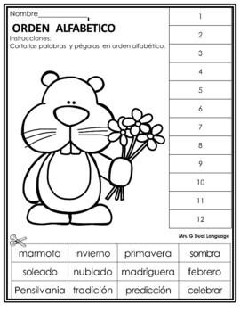 Groundhog Freebie Spanish Printables