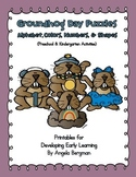 Groundhog Day Puzzles ~ Alphabet, Colors, Numbers, and Shapes