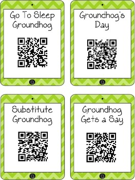 Groundhog Day QR Code Read Aloud Listening Centers