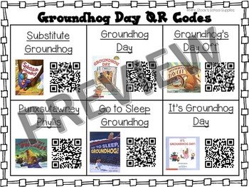 Groundhog Day QR Code Read Alouds