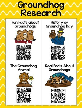 Groundhog Day QR Research and Comprehension Sheets
