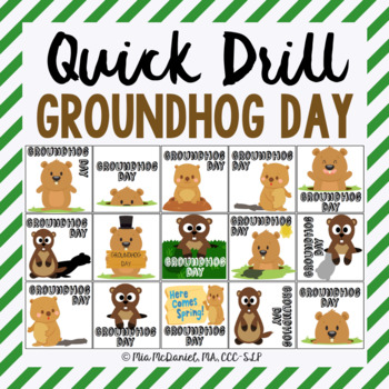 Groundhog Day Quick Drill {for articulation or fluency therapy & RTi}