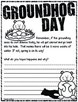 Groundhog Day Quick Write Freebie!