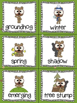 Groundhog Day Read, Write, and Count the Room {Literacy and Math Center} {CCSS}