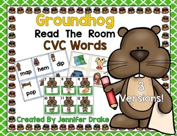 Groundhog Day Read the Room CVC Words